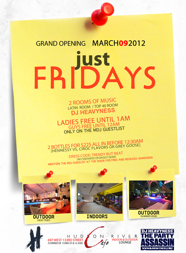 just fridays flyer